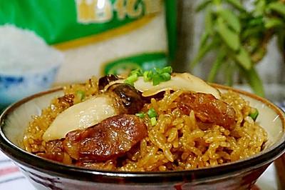 松茸香肠蒸饭#福临门创意米厨#