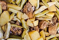豆角排骨粘卷子的做法