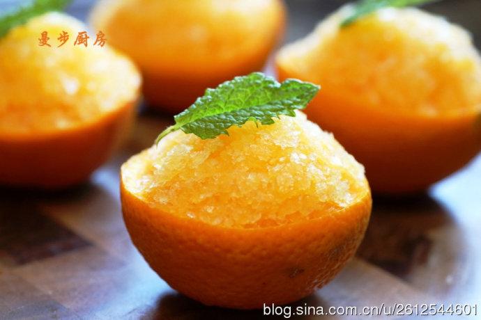曼步厨房 - Orange Sorbet 香橙雪贝