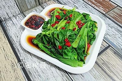 白灼鸡毛菜-素食斋蔬菜减肥轻断食健身-蜜桃爱营养师私厨