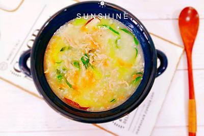 香菇青菜胡萝卜瘦肉粥