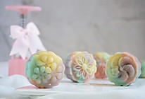 梦幻小清新冰皮月饼 奶黄板栗馅 不用烤箱的中秋节月饼的做法