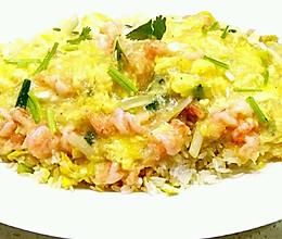 滑蛋虾仁饭的做法
