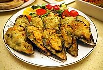 蒜蓉芝士焗青口贝#一起吃西餐#的做法