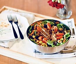减肥杀手锏: 鸡肉蔬菜沙拉#秋天怎么吃#的做法