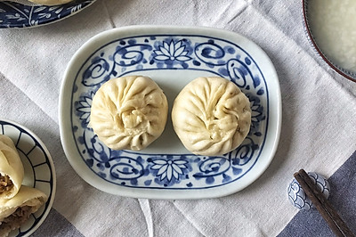 #馅儿料美食,哪种最好吃#梅干菜肉馅包子、梅干菜肉馅饼通用版