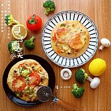鸡肉蘑菇披萨