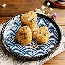 #换着花样吃早餐#快手早餐 日式肉松烤饭团