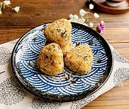 #换着花样吃早餐#快手早餐 日式肉松烤饭团的做法