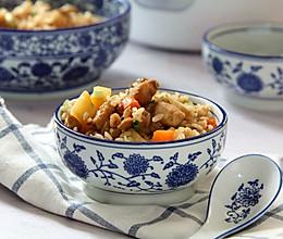 鸡腿土豆焖饭的做法