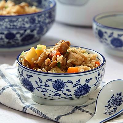 鸡腿土豆焖饭