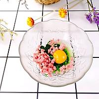 #换着花样吃早餐#快手营养早餐【菠菜火腿鸡蛋饼】的做法图解13