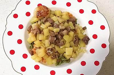 牛小排鹅肝土豆盖浇面