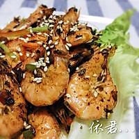 三丁干煎虾的做法图解6