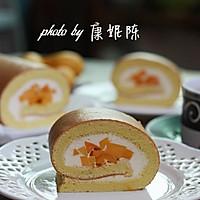 制作蛋糕卷的小窍门【芒果奶油蛋糕卷】的做法图解17