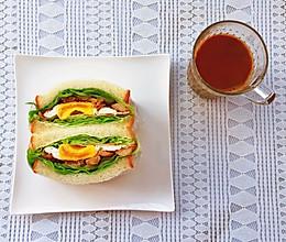 #换着花样吃早餐#超快手减脂三明治的做法