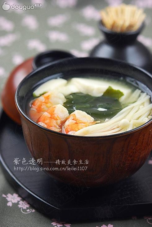 日式味增汤的做法