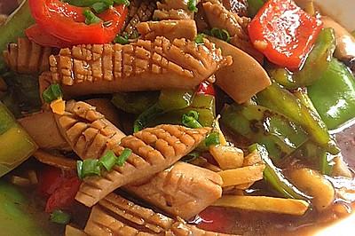 双椒爆炒腰花——无异味,超级爽脆。