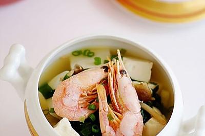 鲜虾什锦味增汤