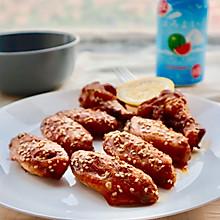 #我们约饭吧#鲜嫩多汁蜜汁烤鸡翅(自制腌料烤箱版)