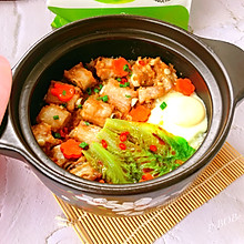 #餐桌上的春日限定#广式蒜香排骨焗煲仔饭