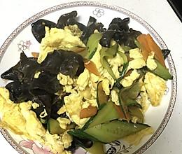 黄瓜木耳炒鸡蛋的做法