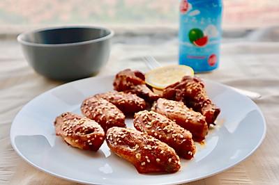 鲜嫩多汁蜜汁烤鸡翅(自制腌料烤箱版)