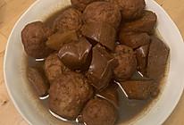 红烧肉丸子五香豆腐干的做法