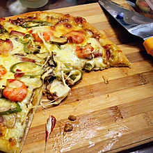 比必胜客好吃太多的【海路至尊披萨】——附红酱做法以及注意点~