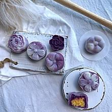紫薯椰蓉冰皮月饼