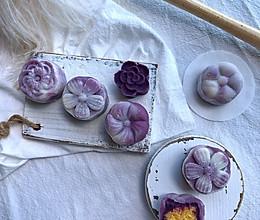 紫薯椰蓉冰皮月饼的做法