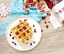 """#""""莓""""好春光日志# 双重蔓越莓华夫饼的做法"""