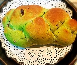 菠菜葡萄干玫瑰面包的做法