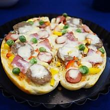 面包披萨#急速早餐#