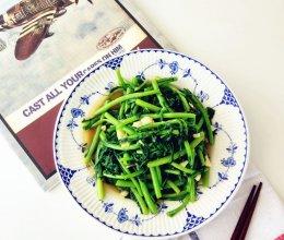 蒜炒茼蒿的做法