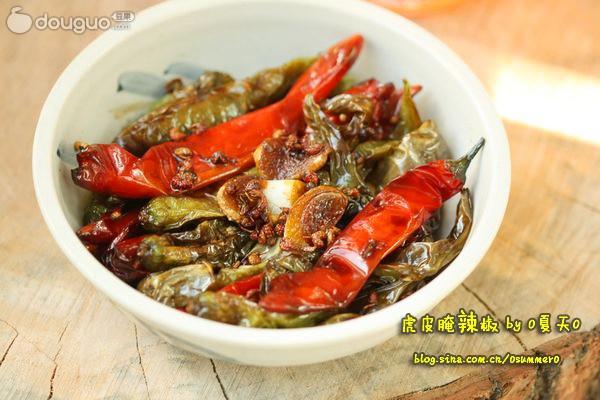 虎皮腌辣椒的做法
