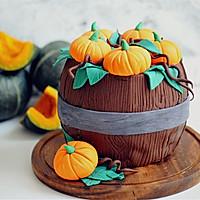 #马卡龙·奶油蛋糕看过来#暖色秋季—秋的收获—南瓜翻糖蛋糕的做法图解23