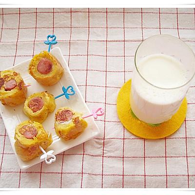 早餐: 香肠吐司卷