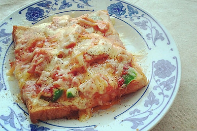 五分钟的简易微波披萨