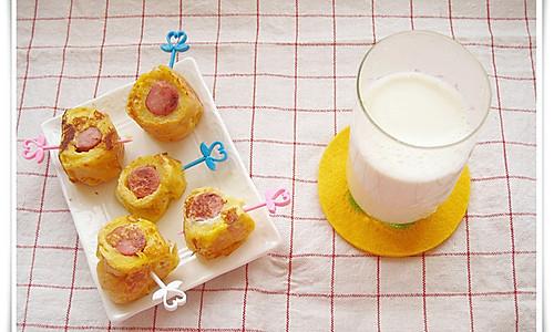 早餐: 香肠吐司卷的做法