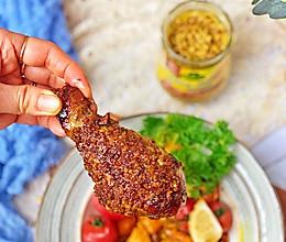 粗粒芥末蜜汁烤鸡腿#换着花样吃早餐#的做法
