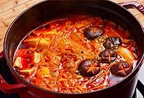 【泡菜锅+辣酱烤肉】上档次的懒人菜,比火锅还简单!的做法