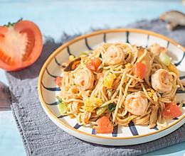 番茄虾仁面的做法