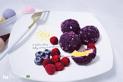 紫薯燕麦芝士球