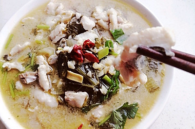 酸菜鱼(少油,少辣)