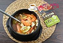 #烤究美味 灵魂就酱#鲜虾南瓜豆腐韩式大酱汤的做法