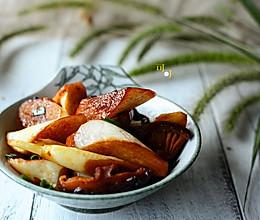 香菇焖茭白:一碗赛荤菜的素菜的做法
