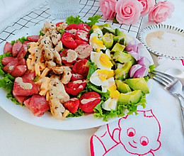 属于夏天的五彩斑斓#丘比沙拉汁#的做法