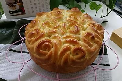 玫瑰花擠擠面包