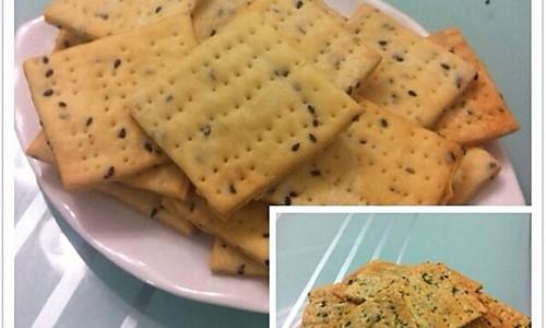 比太平苏打还酥脆的无糖零食——芝香千层苏打饼干(葱香味)的做法